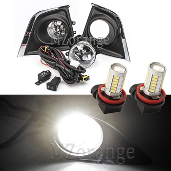цена на LED Fog Lights For Toyota Corolla 2014 2015 2016 1 pair Front bumper Fog lamps headlight headlights LED DRL Fog light foglights
