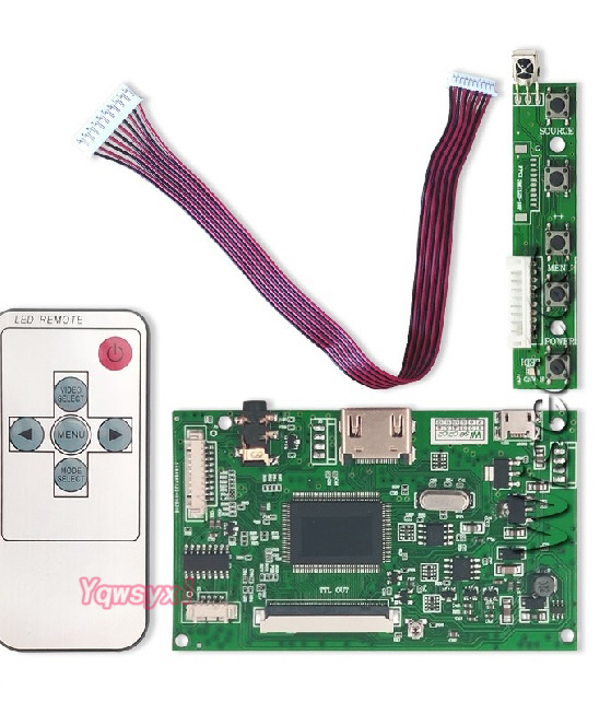 LCD TTL Controller Board  HDMI For AT065TN14  AT080TN52  AT090TN12  AT090TN10  800*480  Micro USB 50 Pins LCD Screen Controller