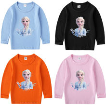 Spring New Girls Long Sleeve T-shirt Thin Baby Autumn Winter Top Children Cartoon Princess Bottoming Shirt Fashion Clothing