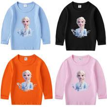 Camiseta de manga larga para niña, Top fino para bebé, Top de invierno, camisa de princesa de dibujos animados, ropa de moda