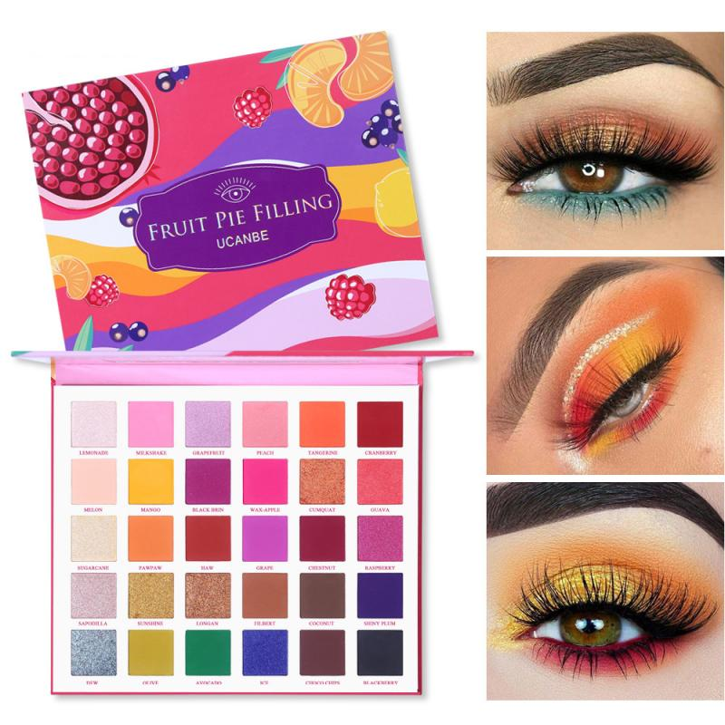 UCANBE 30 Color Shimmer Eyeshadow Makeup Fruit Pie Filling Pigment Cosmetics Pallete Earth Shadows Glitter Powder Beauty TSLM2