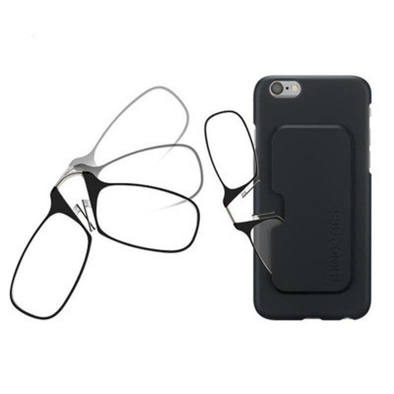 Портативный зажим для носа очки для чтения без ноги очки для чтения унисекс пресбиопические очки мини очки липкий мобильный телефон чехол|Мужские очки для чтения|   | АлиЭкспресс