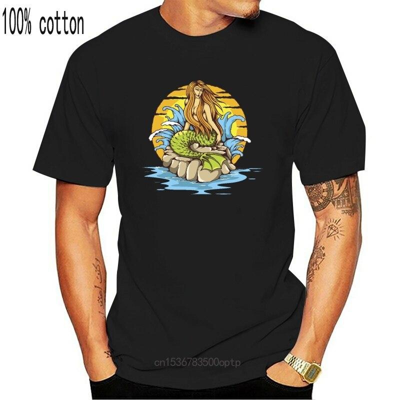 Traditionelle Tattoo Meerjungfrau Männer T-Bild Durch Plus Größe T-shirt