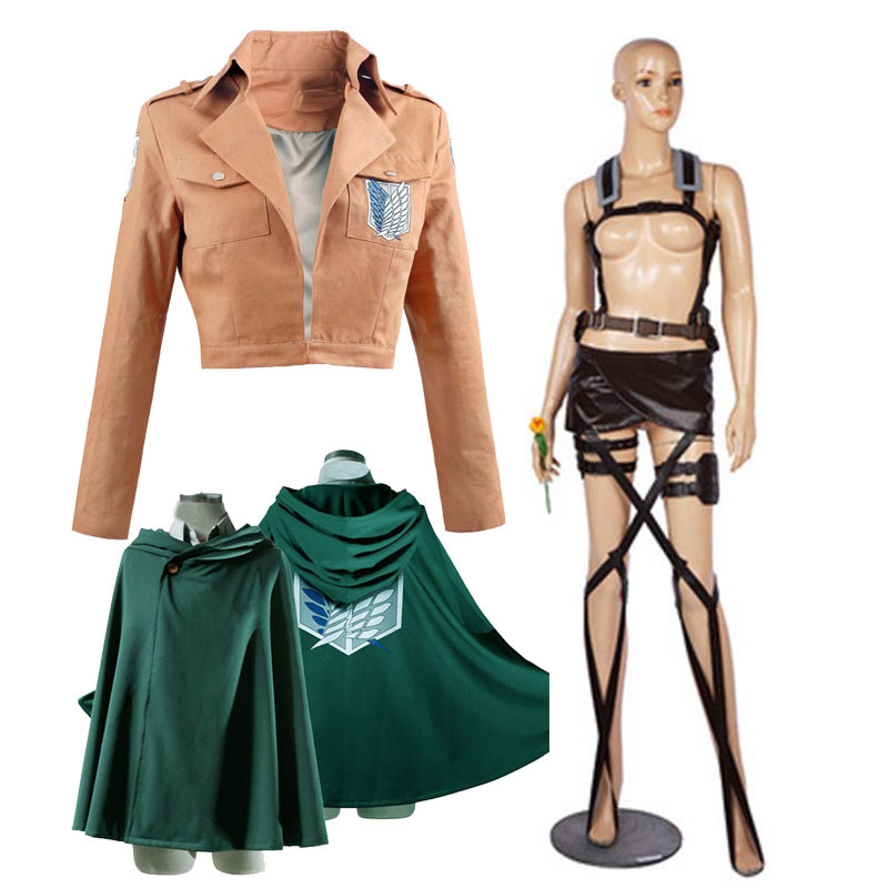 Japanese Hoodie Attack on Titan Cloak Shingeki no Kyojin Scouting Legion Cosplay Costume anime cosplay green Cape mens clothes