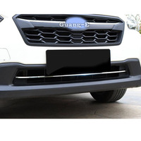 Car Body Stick Styling ABS Chrome Trim Front Grid Grill Grille Racing Panel Lamp Frame 1pcs For SUBARU XV 2018 2019 2020