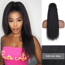 22 Inch Afro Long Straight Drawstring Ponytail Synthetic Yak