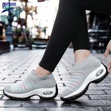 Kadın ayakkabı yeni bahar rahat düz yumuşak bayanlar loafer'lar Zapatos De Mujer 2020 hava yastığı kaymaz sönümleme tıknaz siyah Sneakers