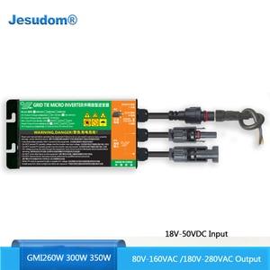 MPPT солнечная сетка галстук микро инвертор 260 Вт 300 Вт 350 Вт DC18V-50V до AC110V-230V 50 Гц/60 Гц солнечный PV инвертор водонепроницаемый IP55