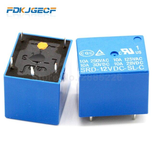 Реле SRD-09 12 14VDC-SL-C 5 Шпильки 9V 12V 14V высококачественный SRD-9VDC-SL-C SRD-12VDC-SL-C SRD-14VDC-SL-C