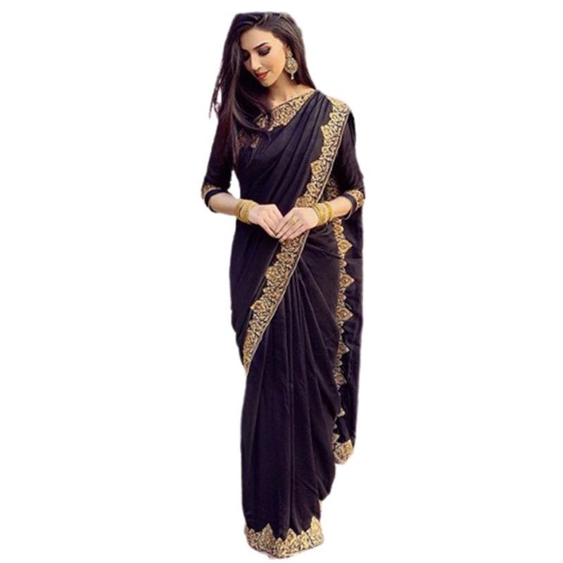 Saris para las mujeres en Sari de India de talla grande Sari indio vestido de las mujeres Sari decoración Pakistán damas Sri Lanka bata vestido Bollywood