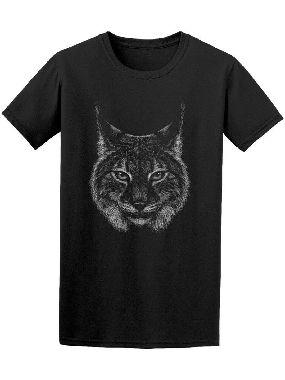 Lynx Head Wild Cat Portrait Men'S Tee -Image By Gift Funny Tee Shirt