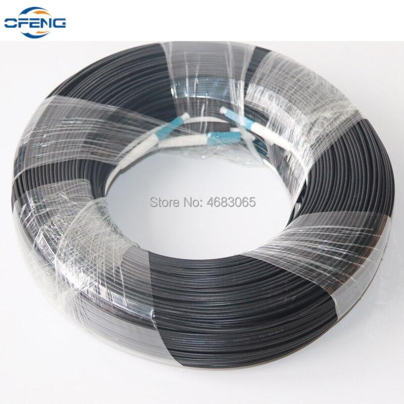 100M LC UPC Duplex FTTH Drop Patch Cable LC SM Duplex G657A Fiber Optic Patch Cord FTTH Fiber Optic Jumper Cable