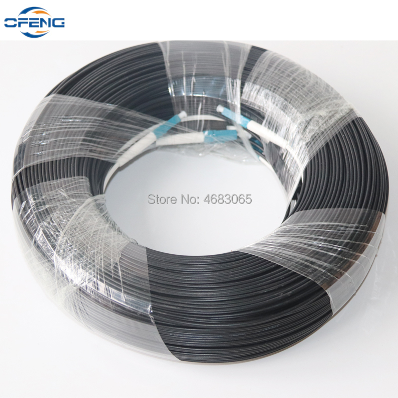 Free Ship 100M LC UPC Duplex FTTH Drop Patch Cable LC SM Duplex G657A Fiber Optic Patch Cord FTTH Fiber Optic Jumper Cable