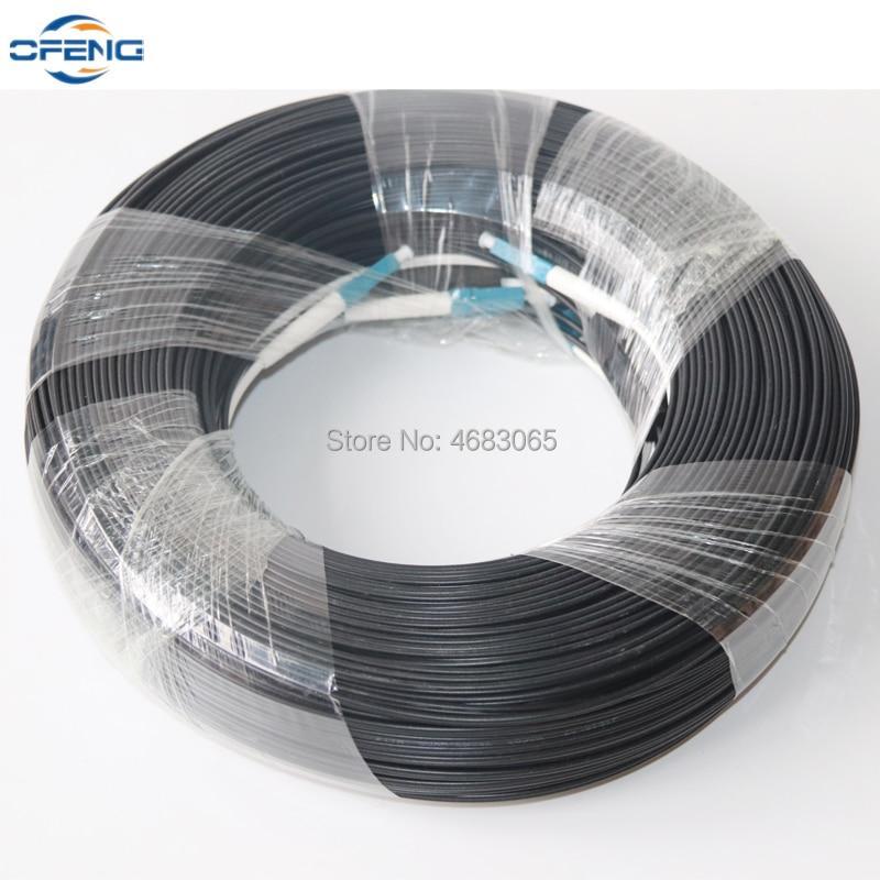 Free Ship 100M LC UPC Duplex FTTH Drop Patch Cable LC SM Duplex G657A Fiber Optic Patch Cord FTTH Fiber Optic Jumper Cable