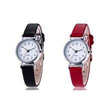 Relógio de pulso feminino quartz, 1 peça, branco, pequeno, para senhoras, relógio de pulso de quartzo, simples, retr, montre femme, com pulseira de couro