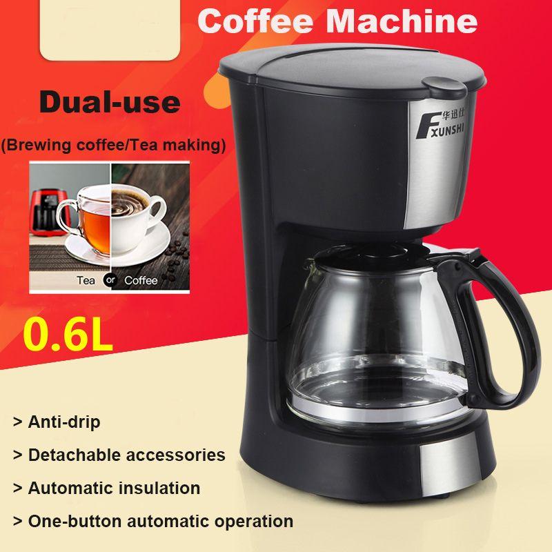MD-208A 0.6L Automatic Insulation Cafe Machine Drip Coffee Maker Tea Espresso Latte Coffee Pot Home Office Cafe Machine
