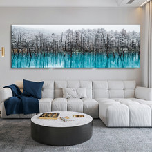 Snowing Forest Landscape Home Decor Modern Canvas Painting Scandinavian Style Wall Art Canvas Posters Prints Decoration Salon