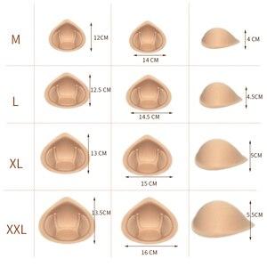 Image 4 - 1 paire, sangles réalistes en éponge, formes de seins, rehausseur de seins, Inserts de rembourrage 2XL pour maillots de bain et crossdressing D40
