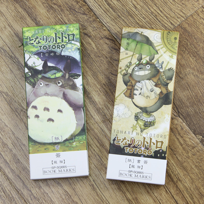 32 Pcs/pack My Neighbor Totoro Book Marker Japanese Anime Cartoon Paper Bookmarks for Books Accessories Office School A6392