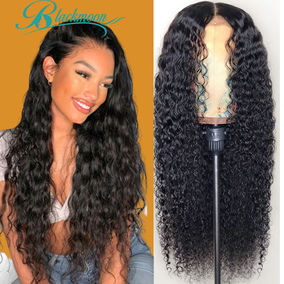 Lace Front Human Hair Wigs For Women Water Wave Wig Human Hair Curly Human Hair Wig Hd Lace Frontal Wig 360 Lace Frontal Wig 1b