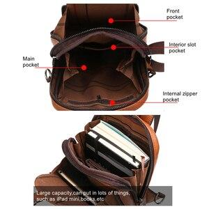 Image 5 - Celinv Koilm мужская сумка через плечо, большой размер, Повседневная нагрудная сумка, высокое качество, большая емкость, спилок, кожаные рюкзаки, слинг сумка для iPad