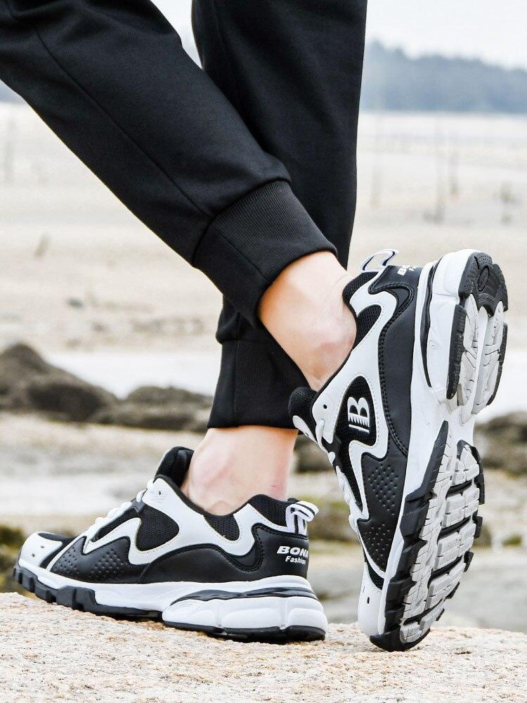 BONA Man Sneakers Casual-Shoes Krasovki Designers Luxury Brand Footwear Zapatos Leisure