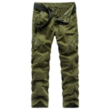ICPANS Mens Joggers with Zipper Pants 2019 Autumn Winter Casual Cargo Army Military Black Male Trouser Slim