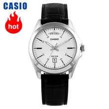 Casio relógio ponteiro série semana data exibição quartzo masculino watchMTP 1370L 7A