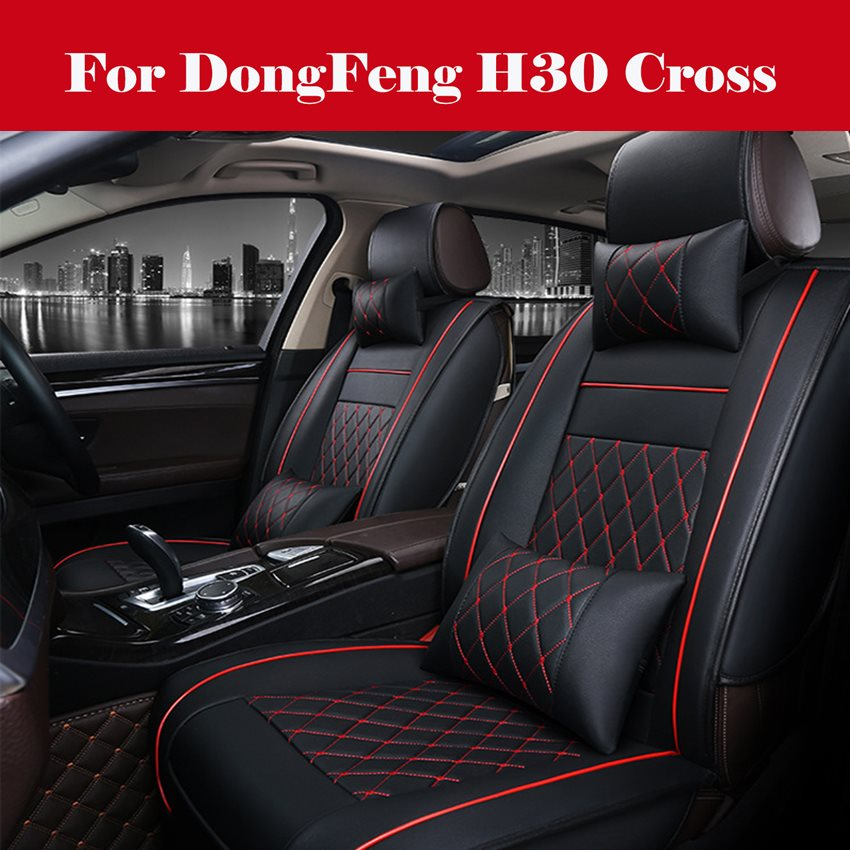 Luxury Car Seat Cover 100% PU Leather 5 Seats Front+Rear SUV Cushions Universal Seat cushion For DongFeng H30 Cross