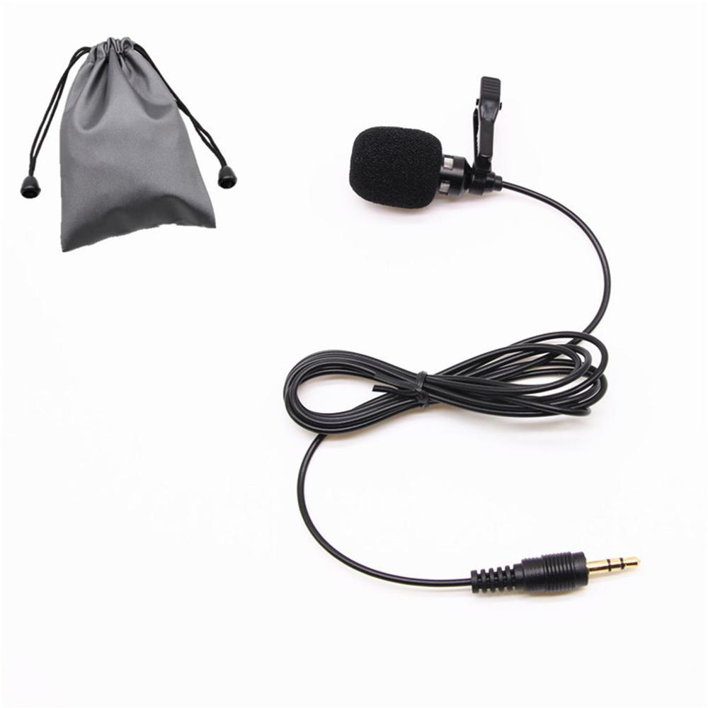 Mini Portable Microphone Condenser Clip-On Lapel Lavalier Mic Wired Mikrofo Microfon For Phone For Laptop