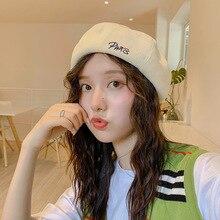 Fashion Corduroy Berets Hat Women Wool Pumpkin Shape Caps Female Warm Bonnet Traveling Shopping Cap Young Girl