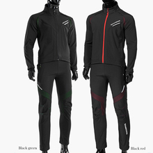 цена на ROCKBROS Cycling Bike Bicycle Long sleeve Jacket Pant Sets Winter Thermal Fleece Jersey Windproof Reflective Sportswear Clothing