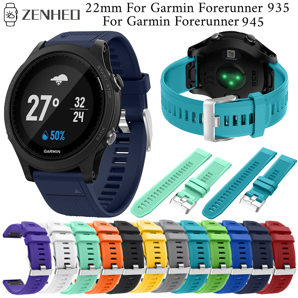 22mm Silicone Quick Release Strap For Garmin Forerunner 935 Band Accessories For Garmin Forerunner 945 Smart Watch Band