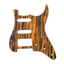 3-Hole SSH Electric Guitar Pickguard Zebrawood Texture Design for American/Mexican Standard Strat Modern Style Guitar Part(China)