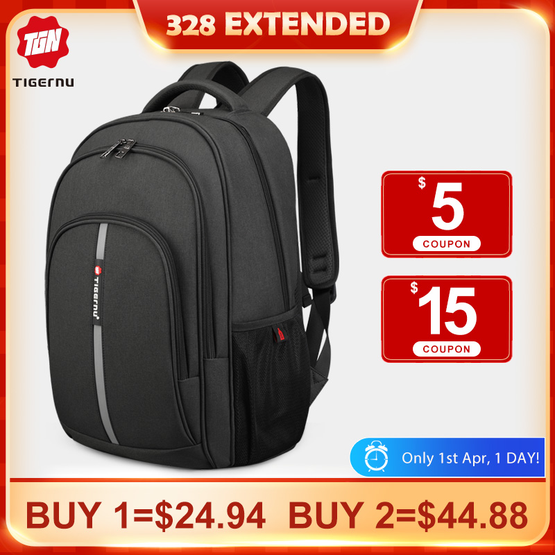 2020 Tigernu New Large Capacity 15.6 Inch Anti Theft Backpacks Waterproof Laptop Men High Quality Business Travel Backpacks Male