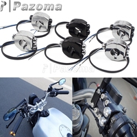 22/25mm Motorcycle M switch ON OFF Start Horn Button Headlight Fog Light Handlebar Controller Switches For Harley Yamaha Bobber