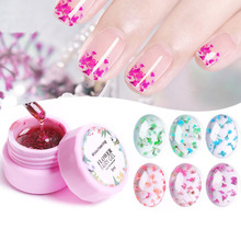 1 Box Dried flowers glue 8ml Led Gel Soak Off Nail Lacquer Shiny Sequins Decorations UV Varnish Painting Flowers