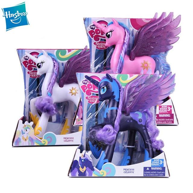 Hasbro My Little Pony Friendship Is Magic Princess Celestia Princess Luna Toys Decoration Toys Girl Gifts 22cm Action Toy Figures Aliexpress