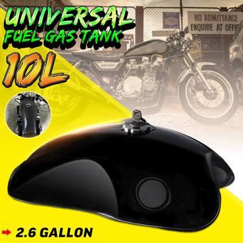 10L 2.6 Gal Motorcycle Retro Vintage Gas Fuel Tank Oil Box Universal For Harley/Suzuki/Yamaha/Honda Cafe Racer