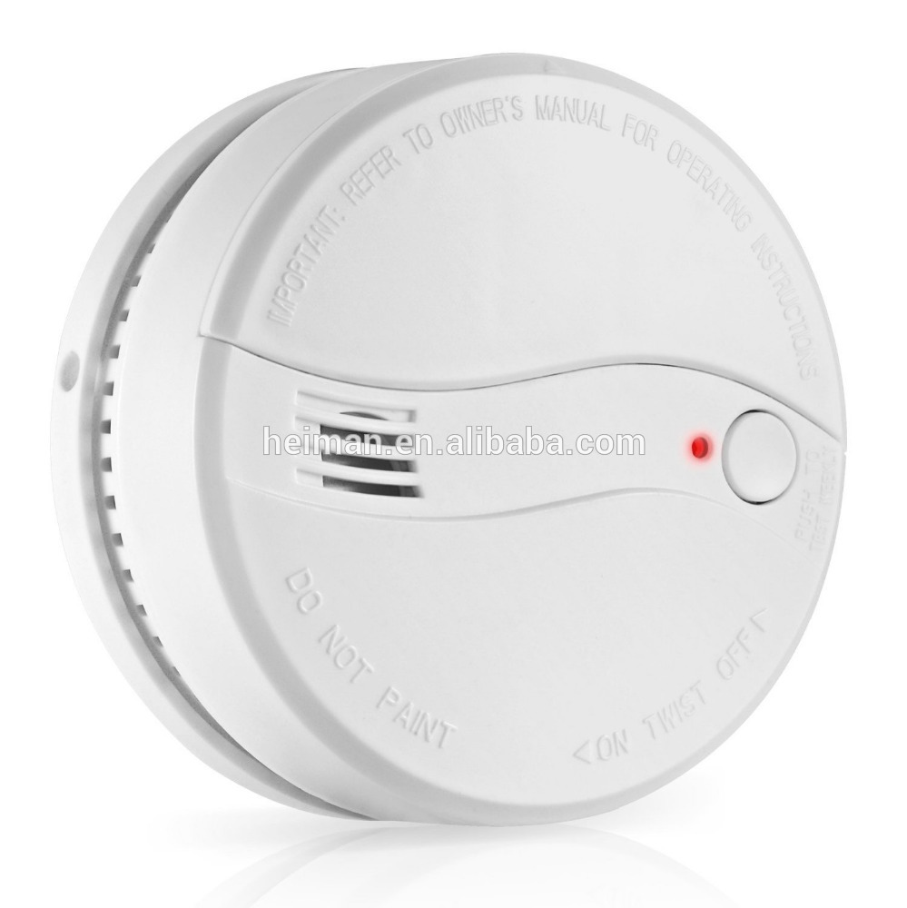 DC 9V Battery Operated Stand Alone Photoelectric 10years Battery Life Smoke Detector