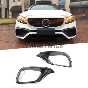 Carbon Fiber Front Bumper Air Vent Outlet Cover Trim FogLamp Vent Trim for Benz E Class W213 E63 E200 2017-2019 M197 1