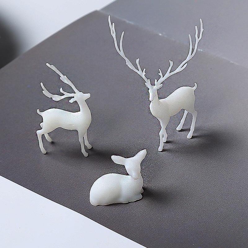 3D Deer Resin Inclusion Miniature Animal Embellishment Resin Jewelry DIY Resin Terrarium Fairy Garden Making Resin Art Supplies