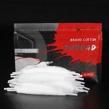20 pasków torba Vape bawełna dla elektroniczny papieros wstępnie załadowana bawełna dla e-papieros RBA RDA DIY cewki knota 1 2 3 torba tanie tanio Bawełna i Knot 5UEJC3TA12328 COTTON RDA RTA RDTA Atomizer 0 013kg (0 03lb ) 14cm x 14cm x 11cm (5 51in x 5 51in x 4 33in)