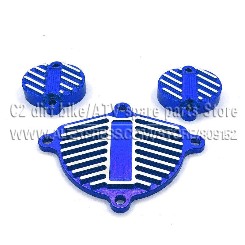 YinXiang 150cc YX 160cc двигатель с ЧПУ алюминиевые планки Комплект нарядный комплект(3 шт.) с прокладкой двигателя крышка головки блока цилиндров - Цвет: Blue
