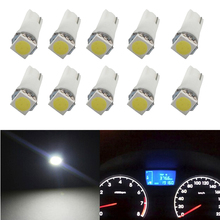 10 Pcs T5 5050 LED Lamp Auto Replacement 12V DC For Car Dashboard/Map/Step/Reading/Meter/LED Indicator Light Bulb
