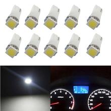 цена на 10 Pcs T5 5050 LED Lamp Auto Replacement 12V DC For Car RV Truck ATV Dashboard/Map/Step/Reading/Meter/LED Indicator Light Bulb