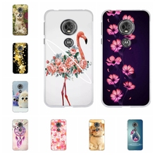 For Motorola Moto E5 Case Soft TPU Silicone G6 Play Cover Floral Patterned E 5th Gen. Capa