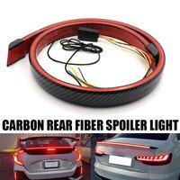 120cm Universal-Carbon Multifunktions Stamm Faser Spoiler LED Licht Streifen 1,2 M Auto Außen Heckspoiler Blinker Bremse lampe