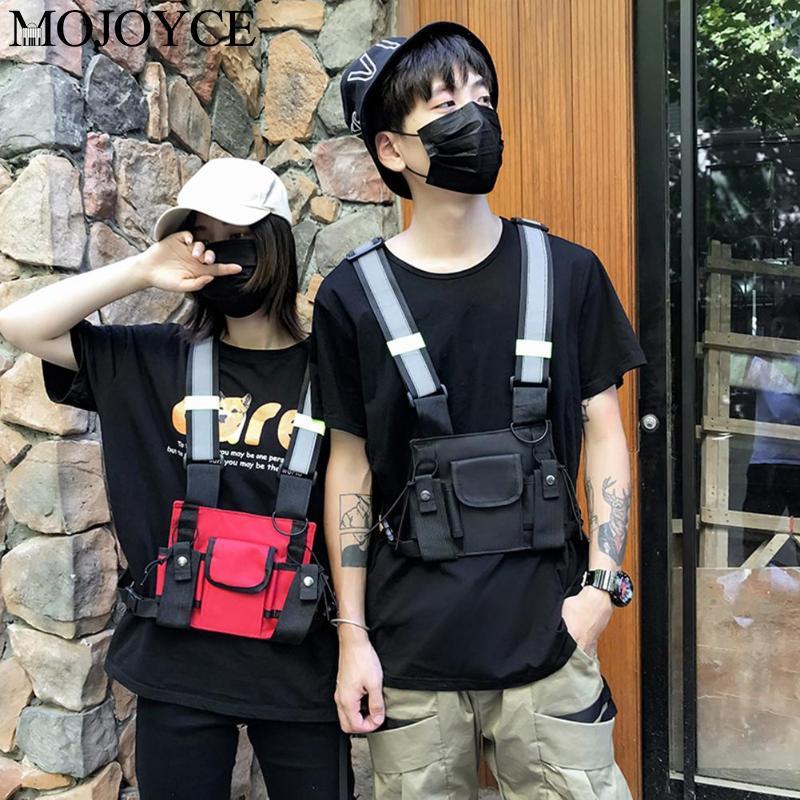 New Oxford Casual Backpack Unisex Hip Hop Multi-function Travel Rucksack Chest Bag Tactical Shoulder Bag Street Style Daypack