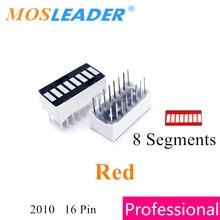 Mosleader 100PCS 8 Segment display Red 2010 8 Segments DIP16 16P B8 Anode Bargraph LED Bar graph light display digital